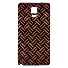 Woven2 Black Marble & Copper Brushed Metal Samsung Note 4 Hardshell Back Case by trendistuff