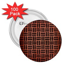 Woven1 Black Marble & Copper Brushed Metal (r) 2 25  Button (100 Pack) by trendistuff