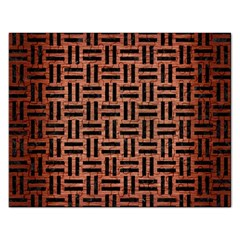 Woven1 Black Marble & Copper Brushed Metal (r) Jigsaw Puzzle (rectangular) by trendistuff
