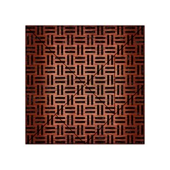 Woven1 Black Marble & Copper Brushed Metal (r) Acrylic Tangram Puzzle (4  X 4 ) by trendistuff
