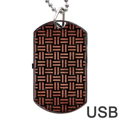 WOV1 BK MARBLE COPPER Dog Tag USB Flash (One Side) by trendistuff