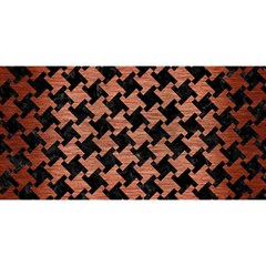 Houndstooth2 Black Marble & Copper Brushed Metal You Are Invited 3d Greeting Card (8x4) by trendistuff