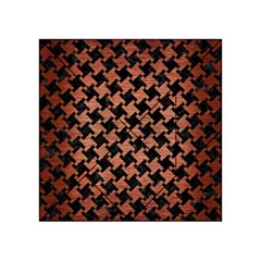 Houndstooth2 Black Marble & Copper Brushed Metal Acrylic Tangram Puzzle (4  X 4 ) by trendistuff