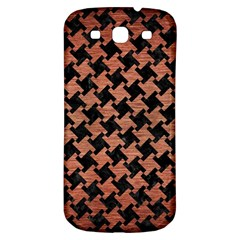 Houndstooth2 Black Marble & Copper Brushed Metal Samsung Galaxy S3 S Iii Classic Hardshell Back Case by trendistuff