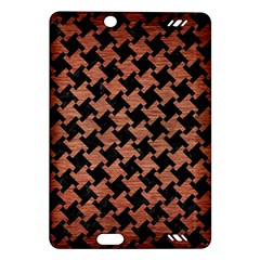 Houndstooth2 Black Marble & Copper Brushed Metal Amazon Kindle Fire Hd (2013) Hardshell Case by trendistuff