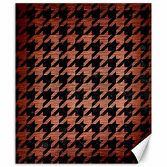 Houndstooth1 Black Marble & Copper Brushed Metal Canvas 20  X 24  by trendistuff