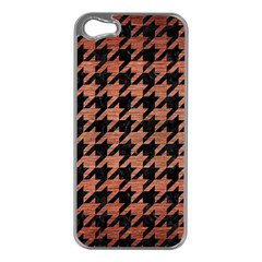 Houndstooth1 Black Marble & Copper Brushed Metal Apple Iphone 5 Case (silver)