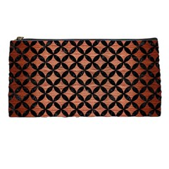 Circles3 Black Marble & Copper Brushed Metal (r) Pencil Case by trendistuff