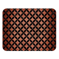 Circles3 Black Marble & Copper Brushed Metal (r) Double Sided Flano Blanket (large) by trendistuff