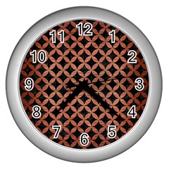 Circles3 Black Marble & Copper Brushed Metal Wall Clock (silver) by trendistuff