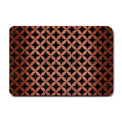 Circles3 Black Marble & Copper Brushed Metal Small Doormat by trendistuff
