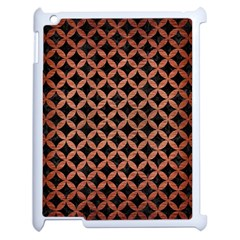 Circles3 Black Marble & Copper Brushed Metal Apple Ipad 2 Case (white) by trendistuff
