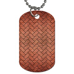 Brick2 Black Marble & Copper Brushed Metal (r) Dog Tag (two Sides) by trendistuff