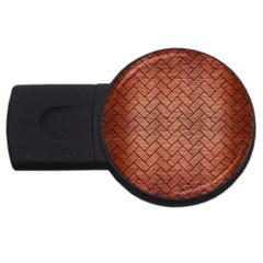 Brick2 Black Marble & Copper Brushed Metal (r) Usb Flash Drive Round (2 Gb) by trendistuff