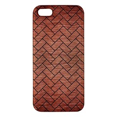 Brick2 Black Marble & Copper Brushed Metal (r) Apple Iphone 5 Premium Hardshell Case