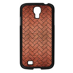 Brick2 Black Marble & Copper Brushed Metal (r) Samsung Galaxy S4 I9500/ I9505 Case (black) by trendistuff