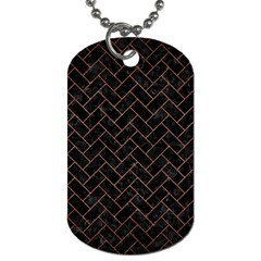Brick2 Black Marble & Copper Brushed Metal Dog Tag (two Sides) by trendistuff
