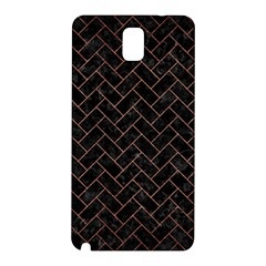 Brick2 Black Marble & Copper Brushed Metal Samsung Galaxy Note 3 N9005 Hardshell Back Case by trendistuff