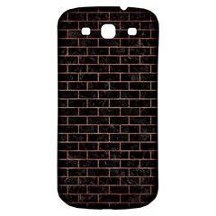 Brick1 Black Marble & Copper Brushed Metal Samsung Galaxy S3 S Iii Classic Hardshell Back Case by trendistuff