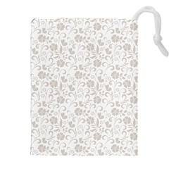 Elegant Seamless Floral Ornaments Pattern Drawstring Pouches (xxl) by TastefulDesigns