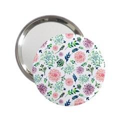 Hand Painted Spring Flourishes Flowers Pattern 2 25  Handbag Mirrors by TastefulDesigns