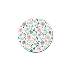 Hand Painted Spring Flourishes Flowers Pattern Golf Ball Marker (4 Pack) by TastefulDesigns