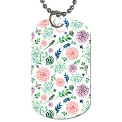 Hand Painted Spring Flourishes Flowers Pattern Dog Tag (two Sides) by TastefulDesigns