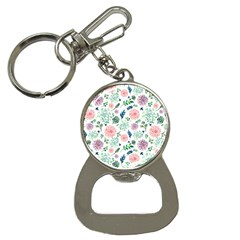 Hand Painted Spring Flourishes Flowers Pattern Bottle Opener Key Chains by TastefulDesigns