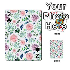 Hand Painted Spring Flourishes Flowers Pattern Playing Cards 54 Designs  by TastefulDesigns