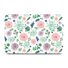 Hand Painted Spring Flourishes Flowers Pattern Plate Mats by TastefulDesigns