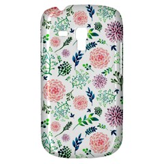 Hand Painted Spring Flourishes Flowers Pattern Samsung Galaxy S3 Mini I8190 Hardshell Case by TastefulDesigns