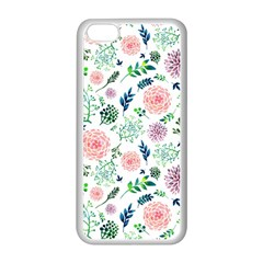 Hand Painted Spring Flourishes Flowers Pattern Apple Iphone 5c Seamless Case (white) by TastefulDesigns