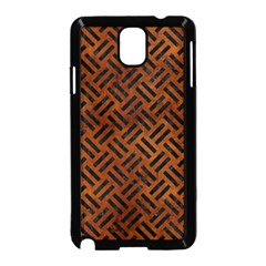 Woven2 Black Marble & Brown Burl Wood (r) Samsung Galaxy Note 3 Neo Hardshell Case (black) by trendistuff