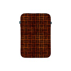 Woven1 Black Marble & Brown Burl Wood (r) Apple Ipad Mini Protective Soft Case by trendistuff