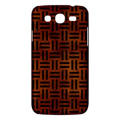 Woven1 Black Marble & Brown Burl Wood (r) Samsung Galaxy Mega 5 8 I9152 Hardshell Case  by trendistuff