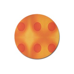 Sunny Happy Orange Dots Magnet 3  (round) by yoursparklingshop