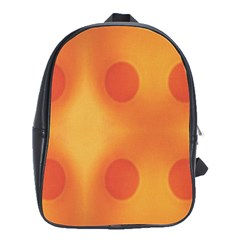 Sunny Happy Orange Dots School Bags(large)  by yoursparklingshop