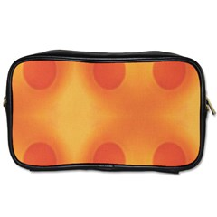 Sunny Happy Orange Dots Toiletries Bags 2 Side by yoursparklingshop