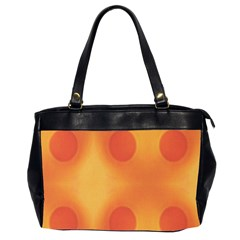 Sunny Happy Orange Dots Office Handbags (2 Sides)  by yoursparklingshop