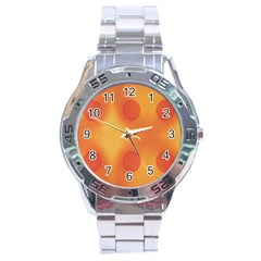 Sunny Happy Orange Dots Stainless Steel Analogue Watch by yoursparklingshop