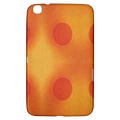 Sunny Happy Orange Dots Samsung Galaxy Tab 3 (8 ) T3100 Hardshell Case  by yoursparklingshop