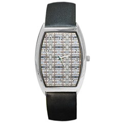 Geometric Diamonds Barrel Style Metal Watch by yoursparklingshop