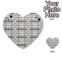 Geometric Diamonds Playing Cards 54 (heart)  by yoursparklingshop