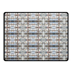 Geometric Diamonds Double Sided Fleece Blanket (small)  by yoursparklingshop