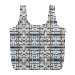 Geometric Diamonds Full Print Recycle Bags (l)  by yoursparklingshop
