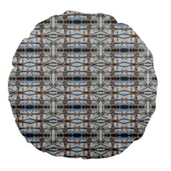Geometric Diamonds Large 18  Premium Flano Round Cushions by yoursparklingshop