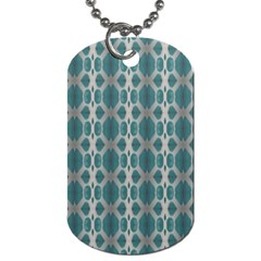 Tropical Blue Abstract Ocean Drops Dog Tag (one Side) by yoursparklingshop