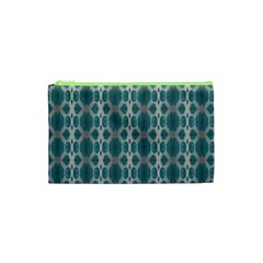 Tropical Blue Abstract Ocean Drops Cosmetic Bag (xs) by yoursparklingshop