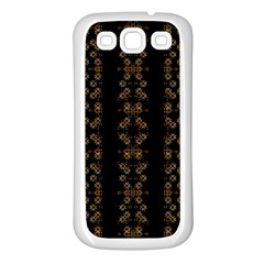 Dark Arabic Stripes Samsung Galaxy S3 Back Case (white) by dflcprints