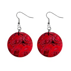 Red Roses Love Mini Button Earrings by yoursparklingshop